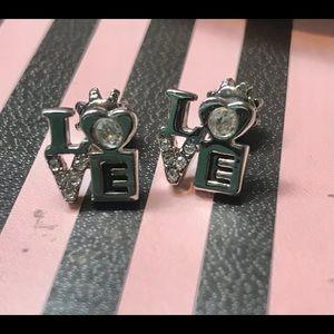 Juicy Couture vintage earrings LOVE squares